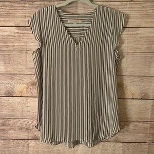 Ann Taylor Loft Striped Sleeveless Top